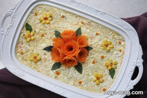 تزیین هویج برای سالاد