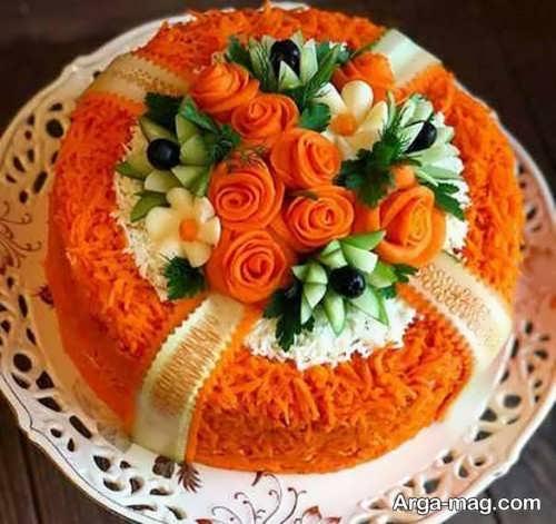 تزیینات زیبا با هویج
