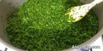 تفت دادن سبزی