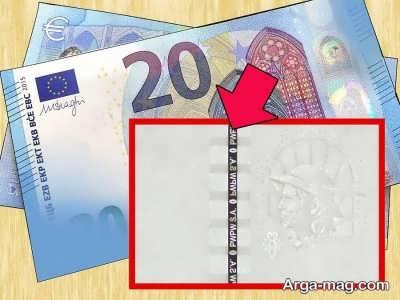 نخ امنیتی اسکناس یورو