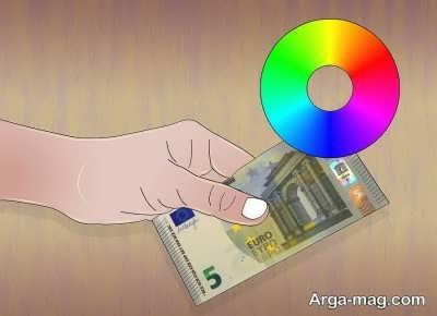 تغییر رنگ هولوگرام پول کاغذی یورو