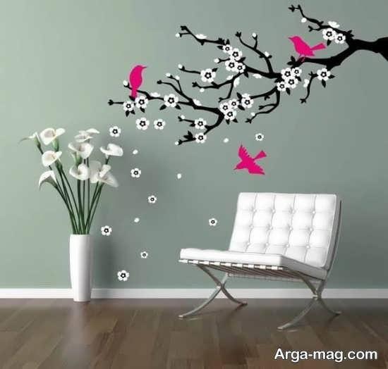خلاقیت زیبای روی دیوار