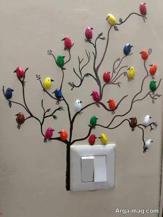 خلاقیت جدید و زیبا روی دیوار