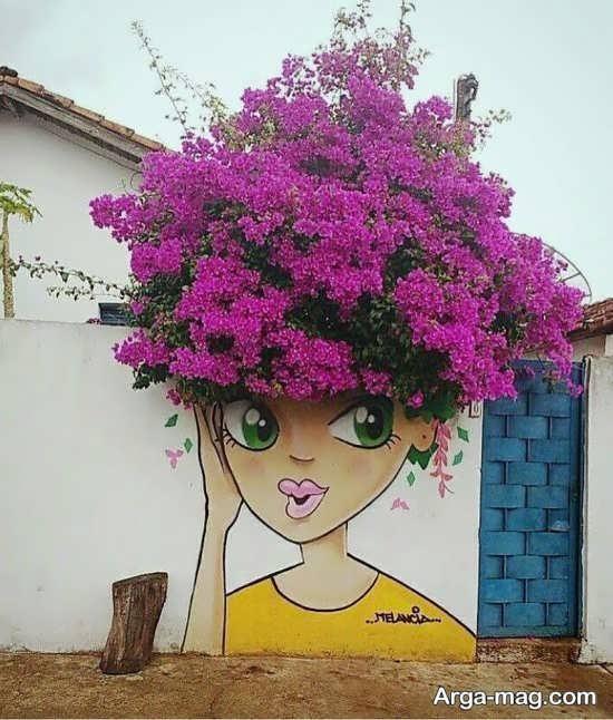 طراحی هنرمندانه روی دیوار