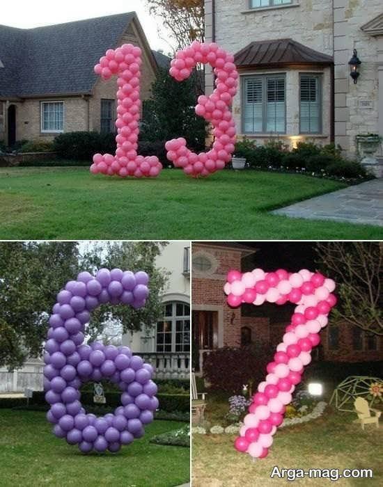 انواع تزیین عدد تولد