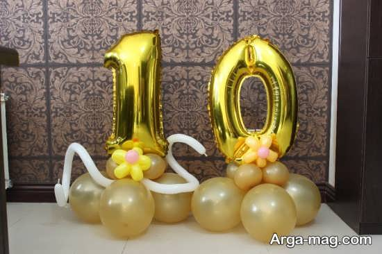 تزئین متفاوت عدد تولد