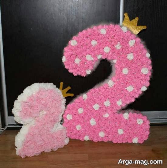 تزئین زیبای عدد تولد