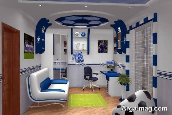 تزیین مدرن اتاق خواب پسرانه