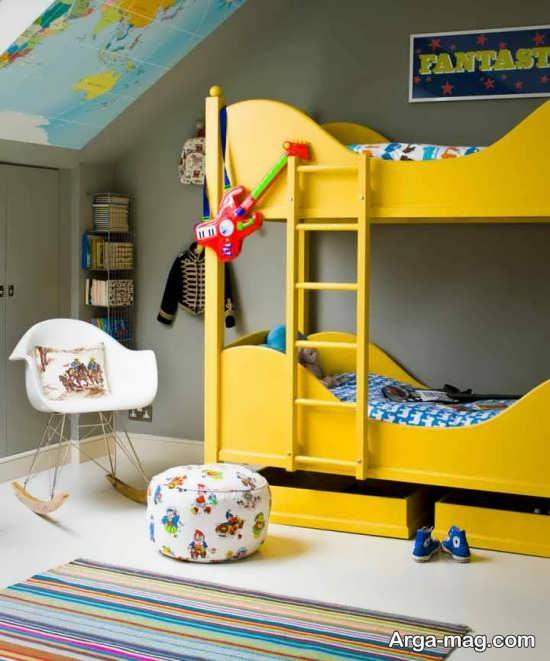تزیین زیبای اتاق خواب پسرانه
