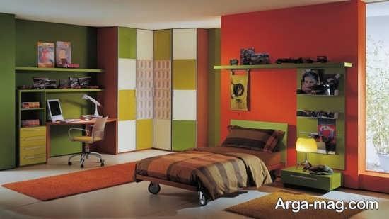 طراحی شیک اتاق خواب پسرانه