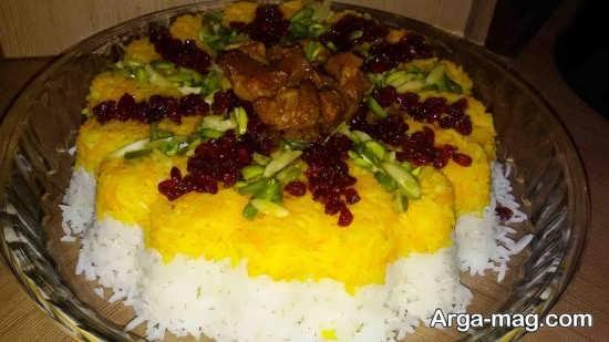 برنج قالبی و روش های تزیین آن