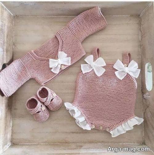 تزیین ست لباس نوزاد