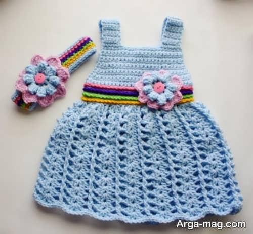 تزیین شیک لباس بافتنی نوزاد