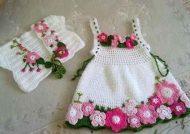 تزیین لباس نوزاد برای سیسمونی