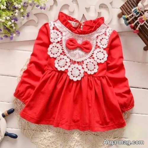 تزیین پیراهن نوزاد