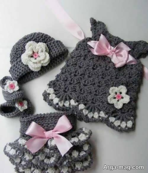 تزیین زیبا و شیک لباس نوزاد