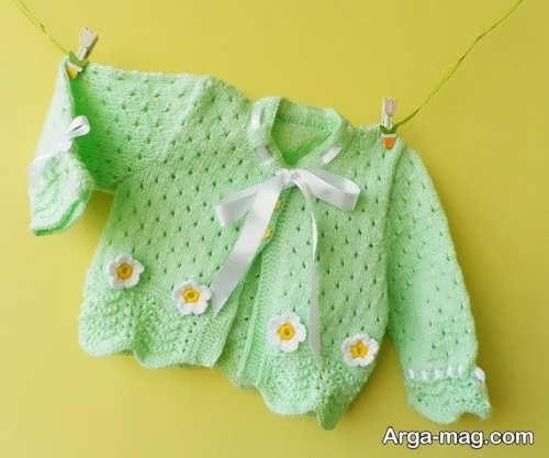 تزیین لباس بافتنی نوزاد