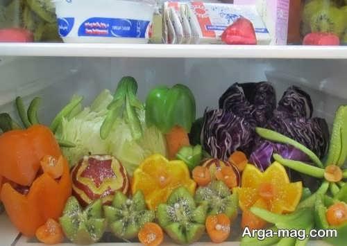 تزیین سبزی برای یخچال