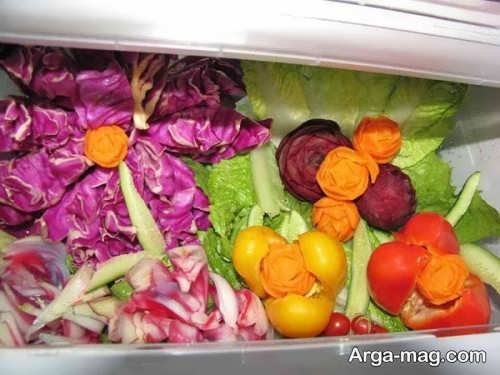 تزیین سبزی برای یخچال تازه عروس