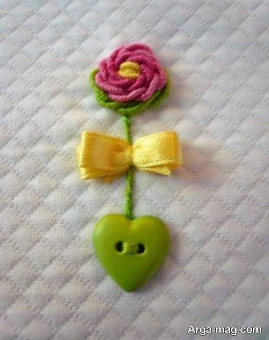 گلدوزی با کامواهای رنگی