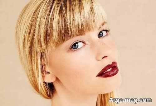 مدل آرایش صورت برای موی بلوند