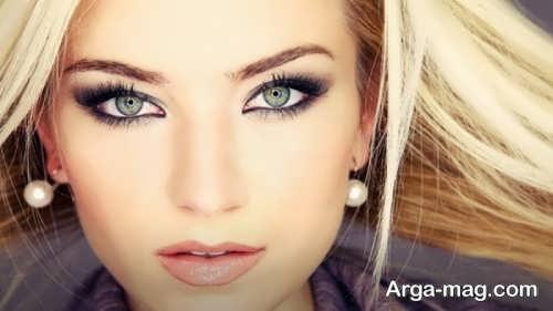 مدل آرایش صورت برای مو بلوند