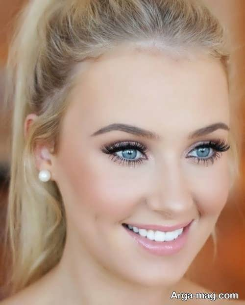 مدل آرایش صورت با موی بلوند