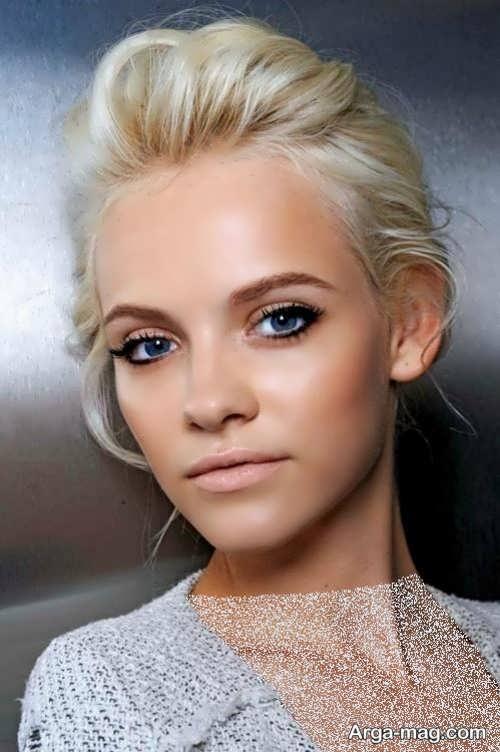 آرایش صورت زنانه با موی بلوند