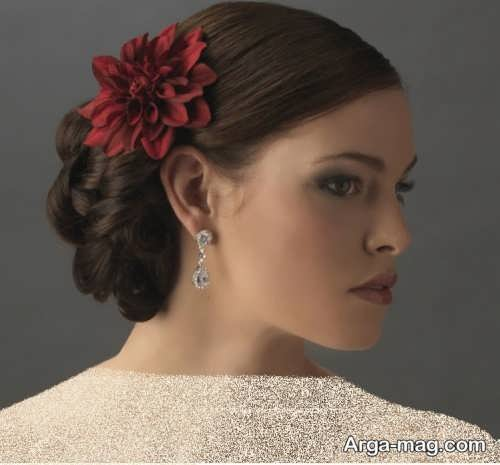 مدل گل سر قرمز دخترانه