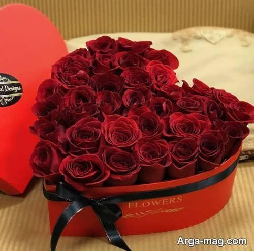جعبه گل قلبی