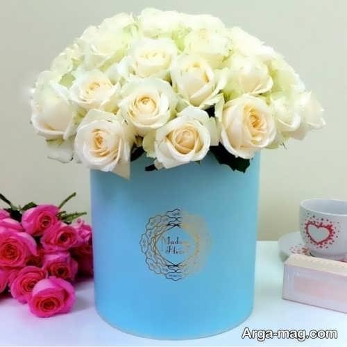 مدل جعبه گل سفید