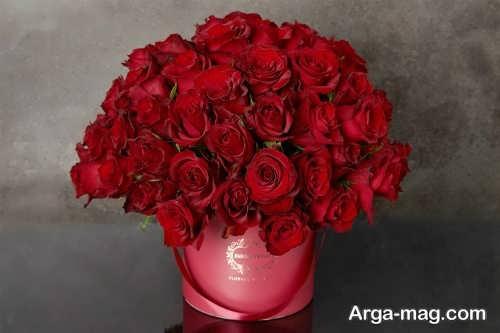 مدل جعبه گل قرمز