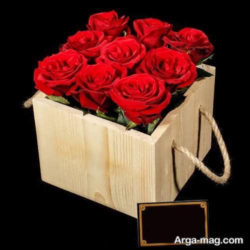 باکس چوبی گل