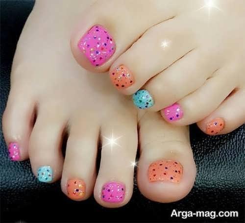 طراحی زیبا و جدید ناخن پا