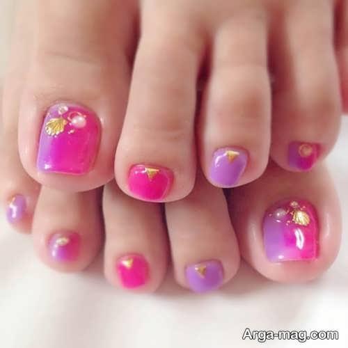 طراحی زیبا و شیک ناخن پا