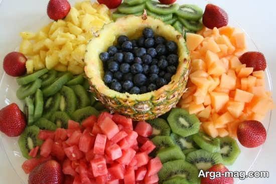 تزیین و دیزاین سالاد میوه