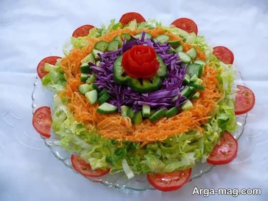 تزیین سالاد سبزیجات و میوه