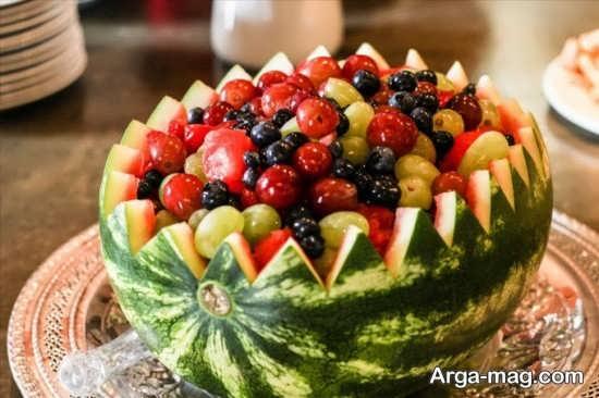 تزیین زیبای سالاد میوه