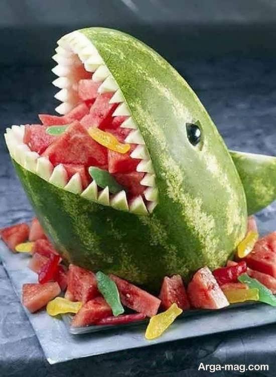 تزیین خلاقانه سالاد میوه