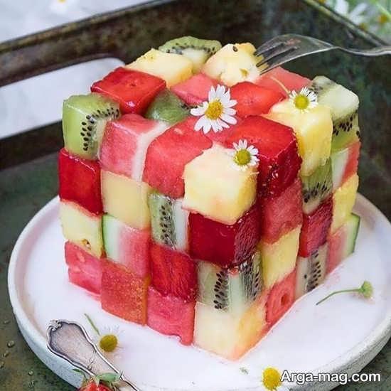 تزیین شیک و مدرن سالاد میوه