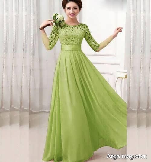 مدل لباس مجلسی سبز روشن