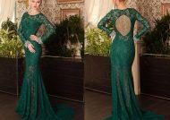 مدل لباس مجلسی سبز