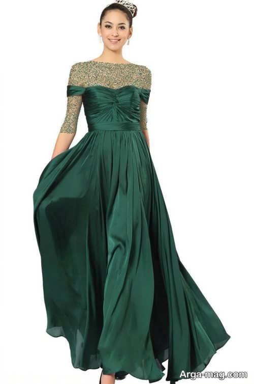 مدل لباس مجلسی سبز و زیبا