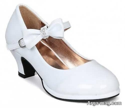 مدل کفش پاشنه بلند بچه گانه سفید