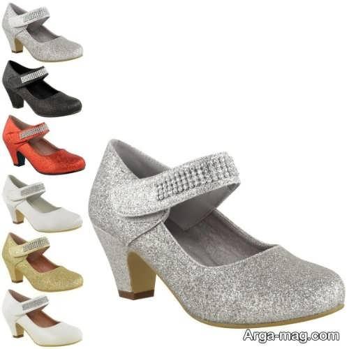 مدل کفش پاشنه بلند بچه گانه دخترانه