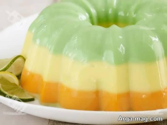 تزیین ژله با میوه موز