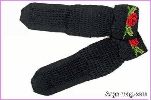 جوراب بافتنی مشکی