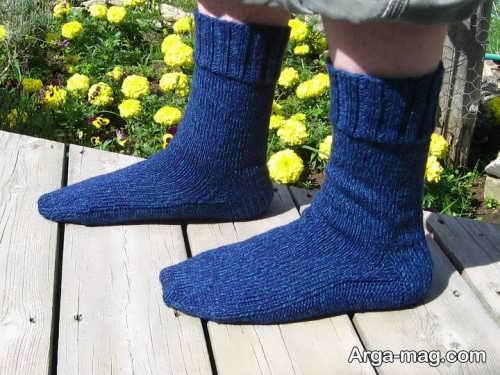 جوراب بافتنی آبی
