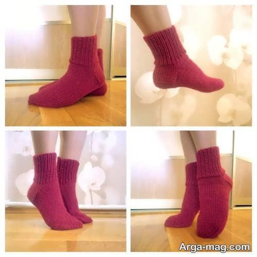 جوراب ساده بافتنی