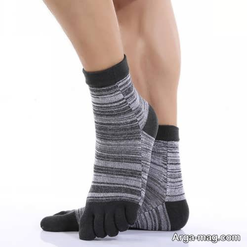 جوراب بافتنی خاکستری